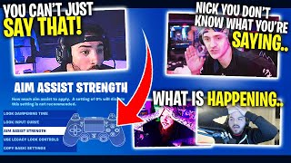 Ninja ATTACKS Nickmercs Over Aim Assist! Ft. Timthetatman & CouRage