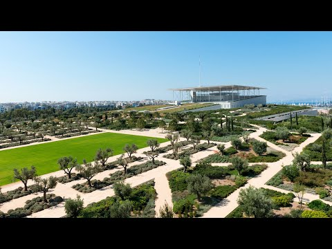 Athens Walk at Stavros Niarchos Foundation Cultural Center SNFCC in Kallithea, Greece