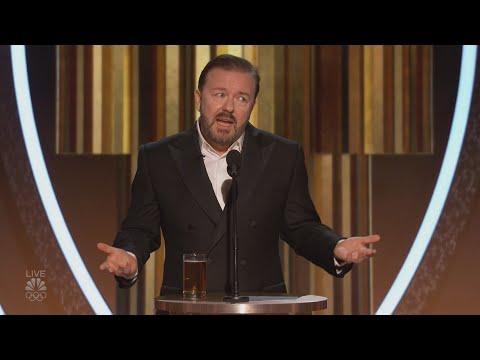 Все шутки Рики Джервейс на Золотом Глобусе 2020 (русские субтитры)