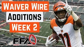 Top Waiver Wire Targets - Week 2 - 2019 Fantasy Football Advice