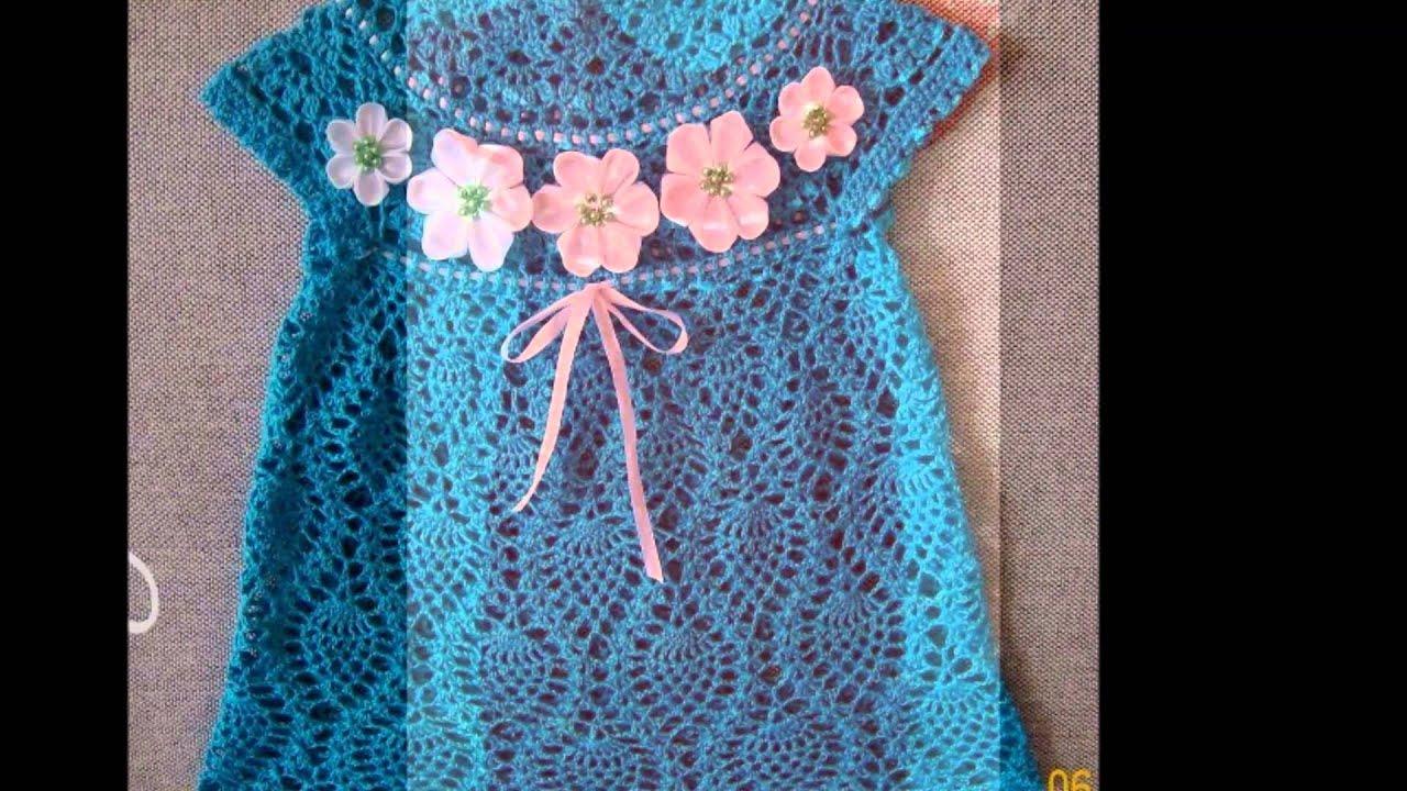 vestidos faciles para ni as y bebes a crochet youtube. Black Bedroom Furniture Sets. Home Design Ideas