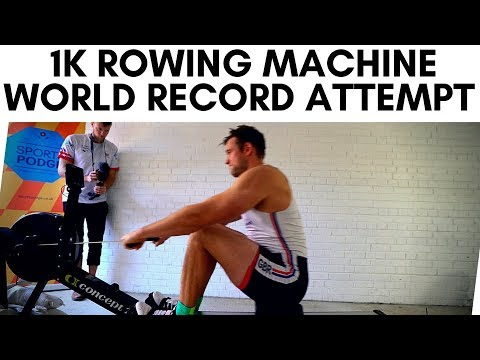1KM ROWING MACHINE WORLD RECORD ATTEMPT WITH PHIL CLAPP | VLOG 58