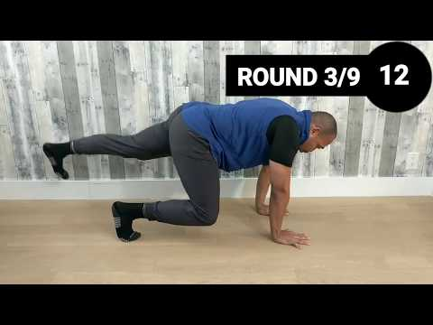 BEAR CRAWL HIIT No. 2 (Bodyweight only Workout, 7 minutes!)