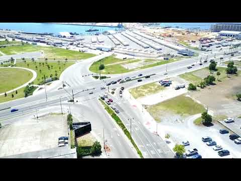 Beautiful drone footage of downtown Gulfport, Mississippi