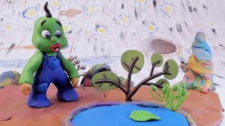 BABY SUPERHERO SURVIVE ON A NEW PLANET - Play Doh Cartoons Clay Stop Motion For Children