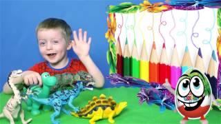 Детям про Динозавров Сборник  Все Серии Подряд ТИРАННОЗАВР Спинозавр  Видео для Детей Lion boy
