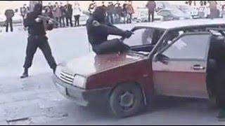 ŞIRNAKTA POLİS ÖZEL HAREKAT . BOMBA YÜKLÜ ARACIN İÇİNDEKİ  ŞEREFSİZİ BÖYLE VURDU