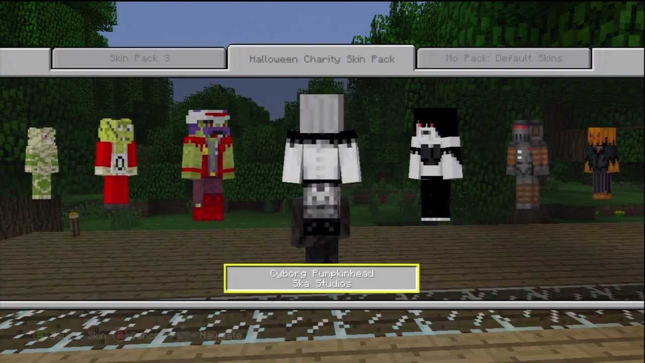 minecraft xbox 360 halloween skin pack for charity until november 26th youtube - Halloween Xbox 360
