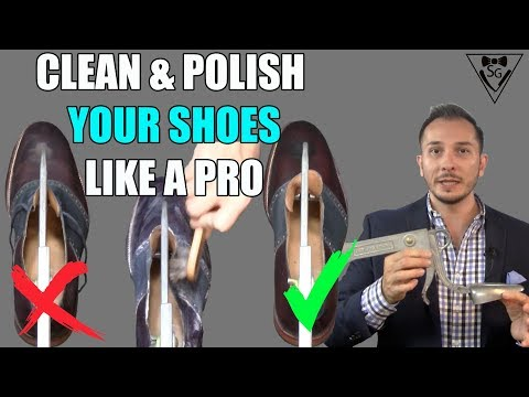 How to clean, polish and shine mens dress shoes. *Essential Shoe Maintenance Knowledge*
