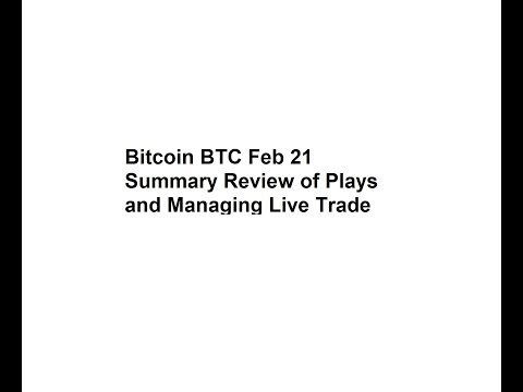 Bitcoin BTC Feb 21 Summary Review of Plays and Managing Live Trade