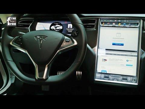 Tesla Model S interior & functions Interview ( 테슬라 모델S 2014 Paris Motor Show)