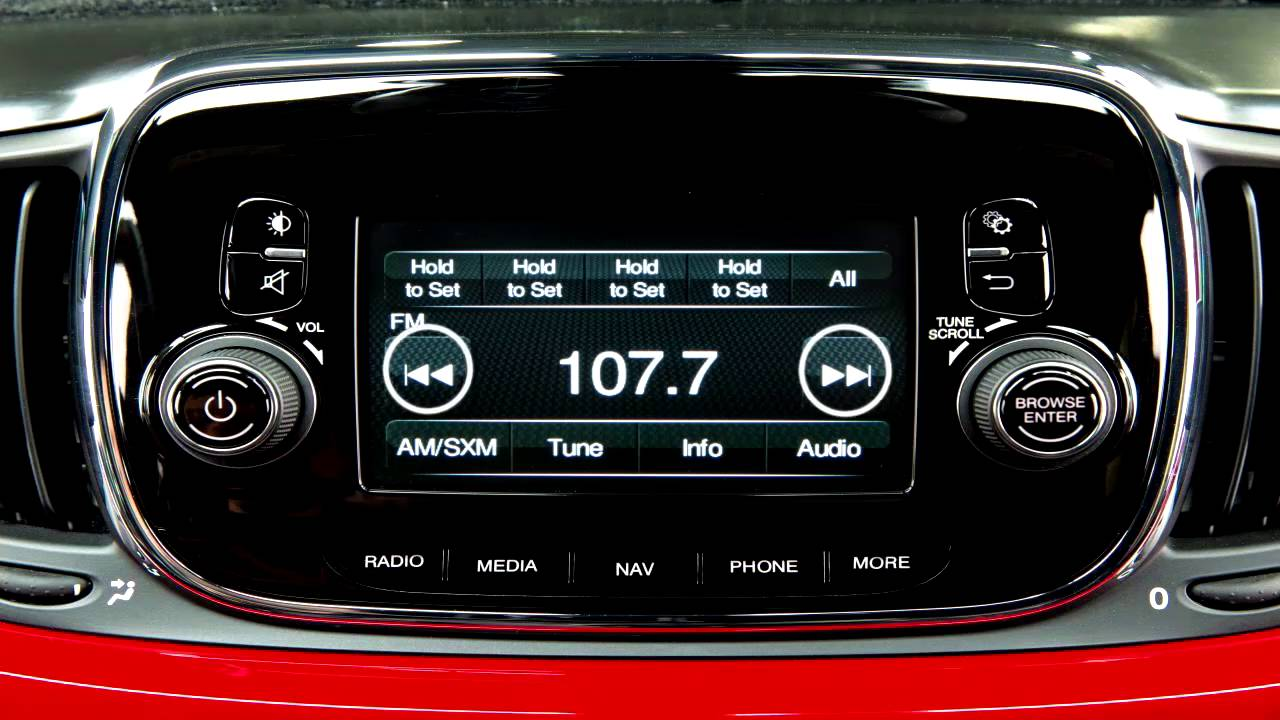 2016 Fiat 500 Abarth >> Uconnect 5.0 - Radio and media connections for 2017 Fiat 500 - YouTube