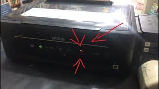 Como resetar impressora Epson L355 (luzes piscando alternadamente, erro contate assistência técnica)