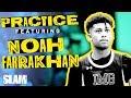 Noah Farrakhan was HOLLERIN' Mic'd Up at IMG 🗣   SLAM Practice