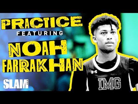 Noah Farrakhan was HOLLERIN' Mic'd Up at IMG 🗣 | SLAM Practice