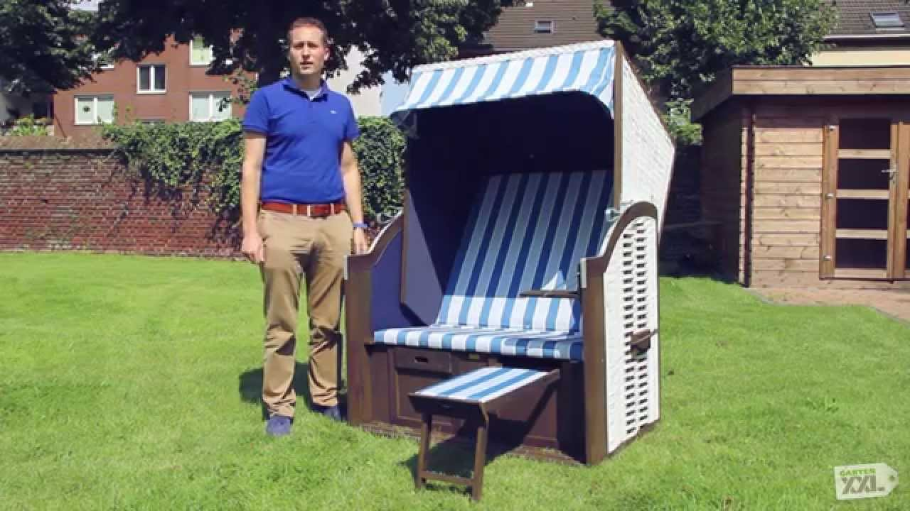 sonnenpartner garten strandkorb rustikal 15 z gartenxxl youtube. Black Bedroom Furniture Sets. Home Design Ideas