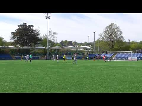 Frank Jones scores for St George's  v Corinthians (2-0) Hospital Cup final 19 May 2018
