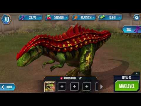 GORGOSAURUS LEVEL 40 Jurassic World The Game