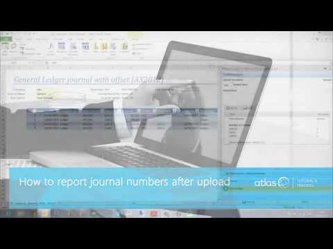 How to Place The Journal Number after an Upload Into a Cell