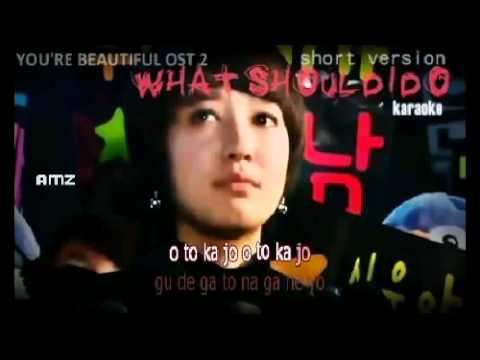 reshi You're Beautiful OST 2 - What Should I Do _ Karaoke - Instrumental _ w_ SR Lyrics.mp4.flv
