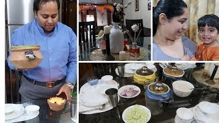 Indian Dinner Routine For Diwali | How to decorate your table for Diwali ! | Diwalog 2017