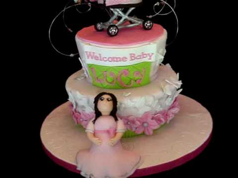 Baby Carriage Cake Topper