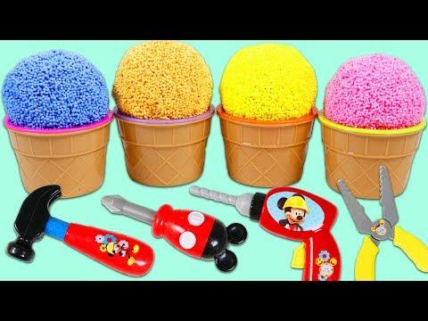 Thumbnail: PLAY FOAM Surprise Toys Opening with Disney Mickey Mouse Tools and Surprise Slime Toys!