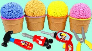PLAY FOAM Surprise Toys Opening with Mickey Mouse Tools!