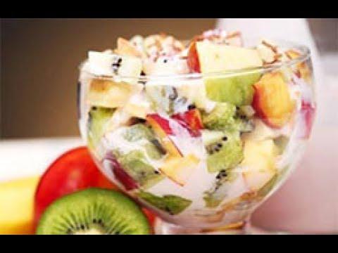 Fruit Salad With Honey And Chocolate 2 طريقة عمل سلطة الفواكه باسهل طريقه واسهل مكونات Youtube