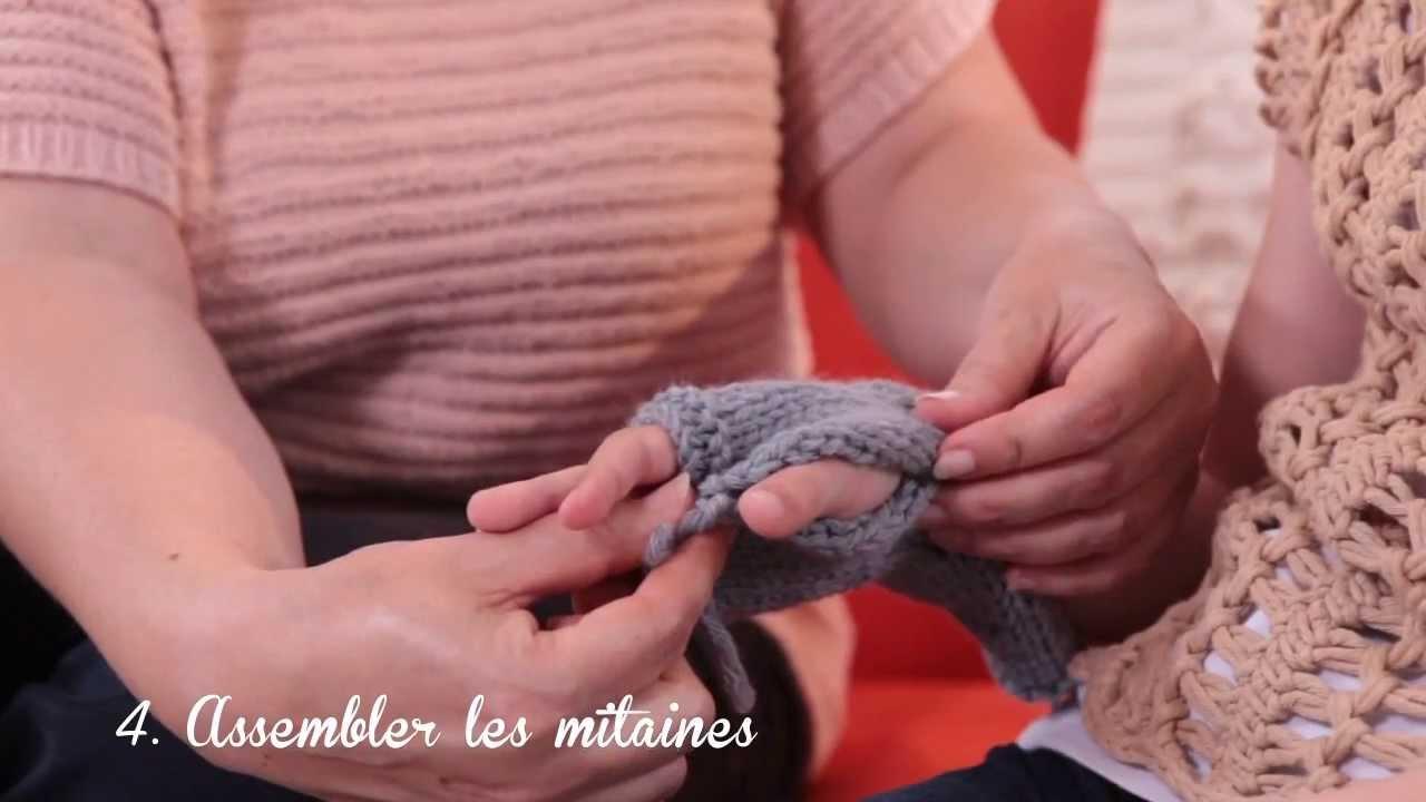 Tutoriel Pour Tricoter Des Mitaines Pour Enfants Phildar Youtube