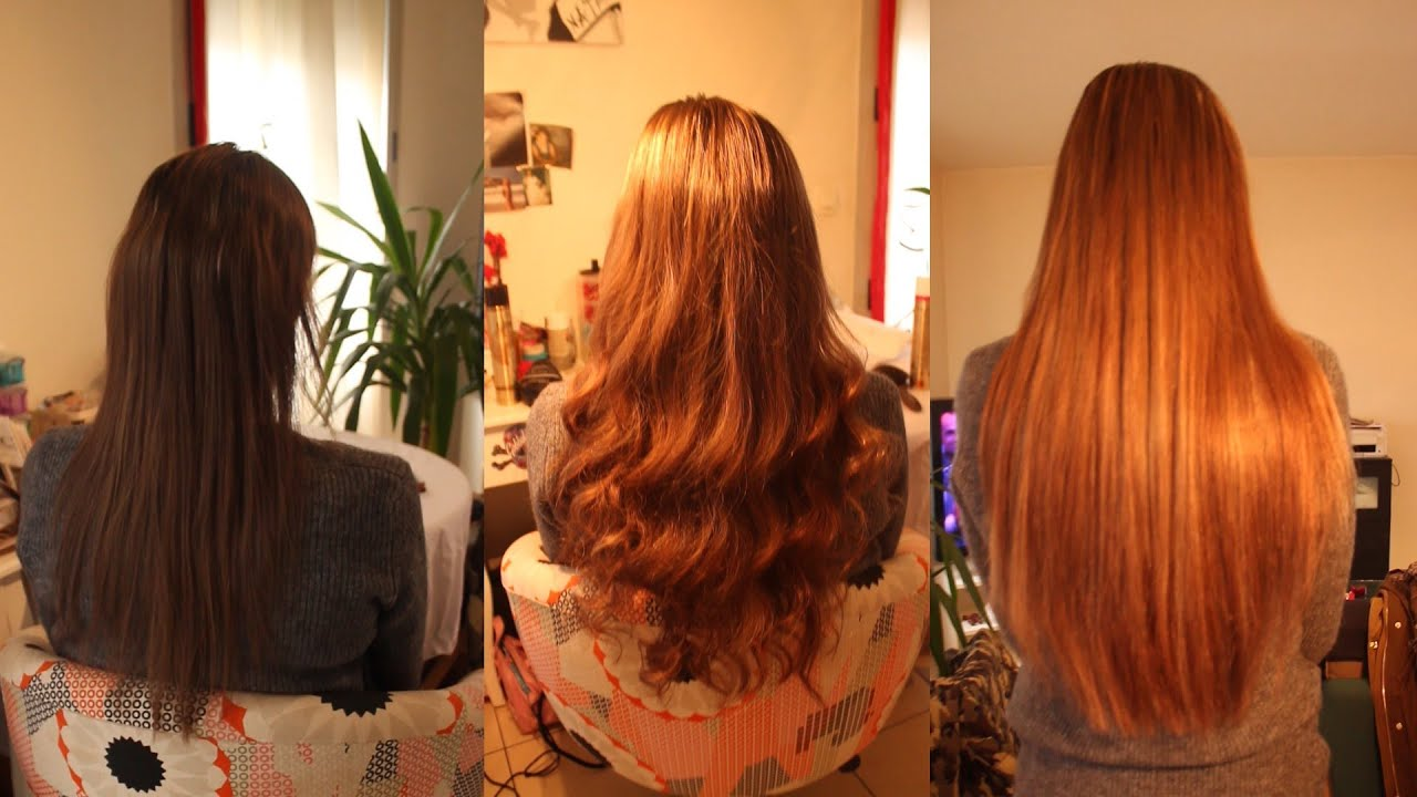 Pose d extensions a froid sur cheveux fins 140 m ches 63 cm youtube - Extension a froid 70 cm ...