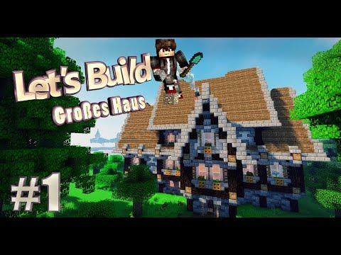 Minecraft Großes MITTELALTERLICHES Haus Bauen Tutorial Deutsch Part - Minecraft grobes mittelalter haus bauen