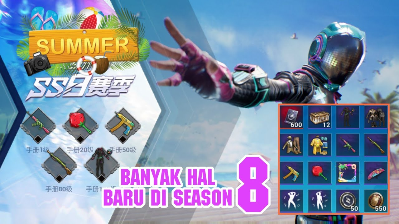 Bocoran Update Royale Pass Season 8 (SUMMER THEME) - PUBG MOBILE! LENGKAP
