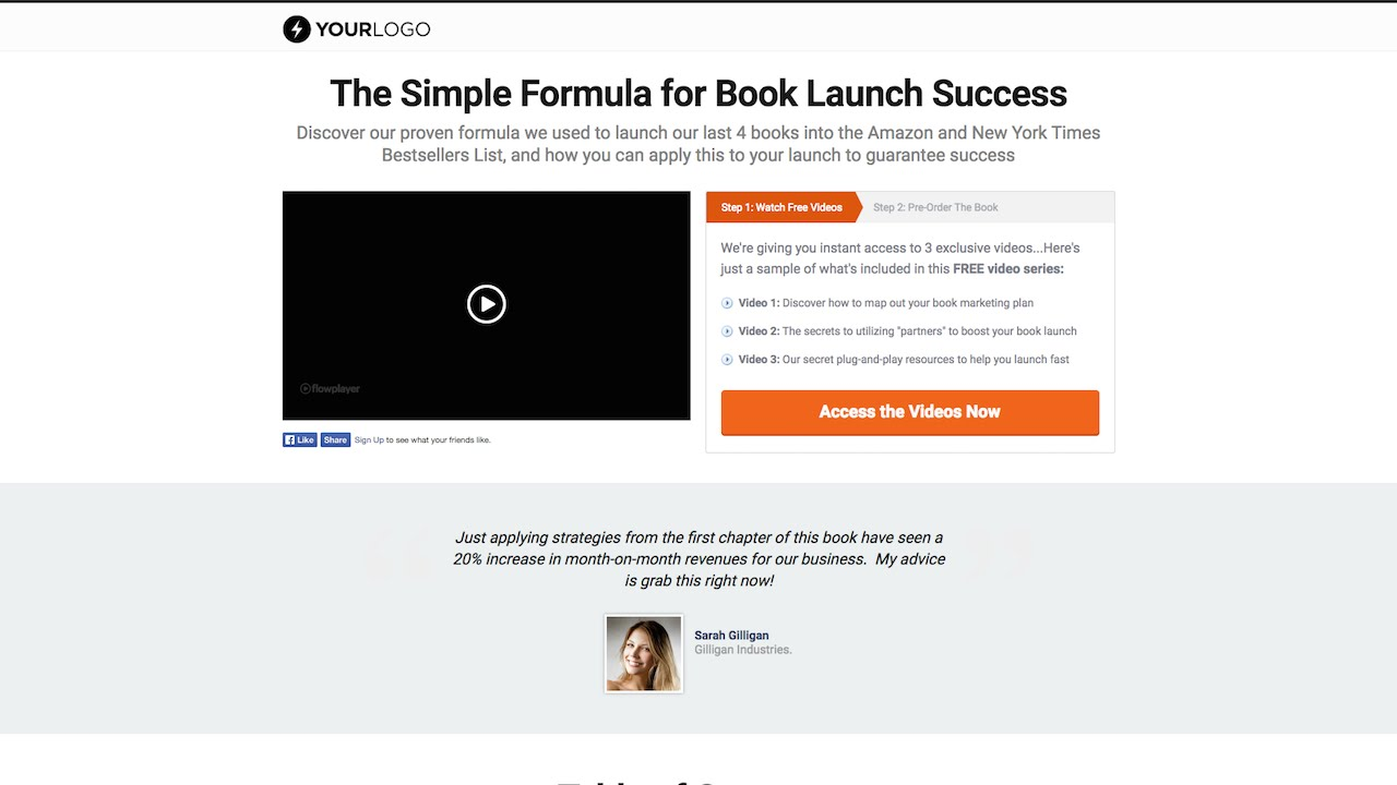 optimizepress book launch landing page template youtube. Black Bedroom Furniture Sets. Home Design Ideas