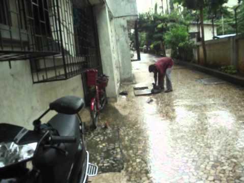 blocked drain,evershine,vasai  maharashtra india