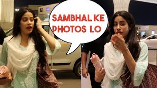 Sridevi's Daughter Jhanvi Kapoor's Caring Nature For Media Photographers Will Melt Your Heart