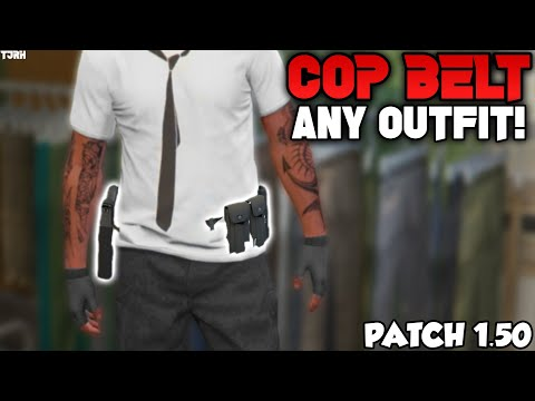 *NEW* How To Get The COP BELT On Any Outfit 1.50! Modded Outfit Clothing Glitches! (GTA 5 Online)