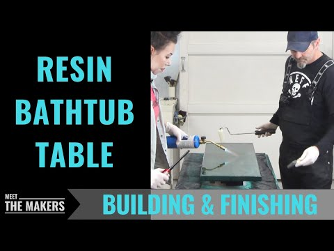 Making a Resin Bathtub Table with Breadboard Ends - Meet The Makers