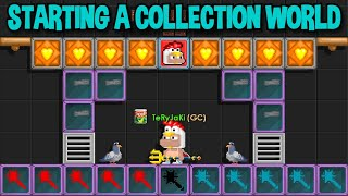 Starting (SUPER RARE) Collection World in Growtopia...