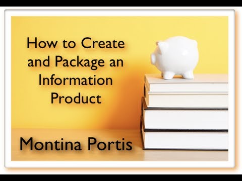 How to Create an Information Product for Beginner's