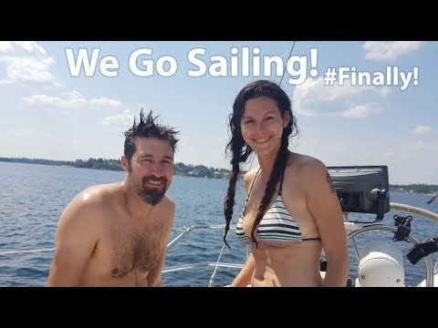 Our First Sail In Our Hunter 34! [ Ep 24- Sailing Nova Scotia ⛵]