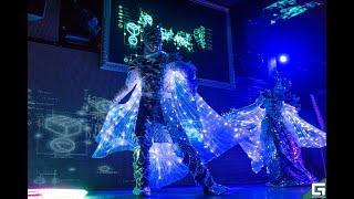LUMOS: Зеркальный дуэт. Световое лазерное шоу, Иркутск.