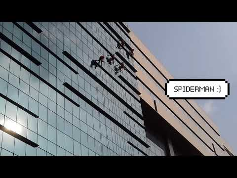 How do they clean glass facade on multi-storey buildings?