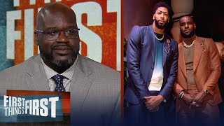 Shaq disagrees LeBron  AD are the best duo talks state of the Lakers  NBA  FIRST THINGS FIRST video