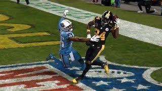 Antonio Brown INSANE One-Handed Helmet Catch! | Titans vs. Steelers | NFL thumbnail