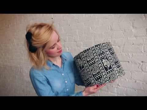 How to make handmade lamp shades with a DIY Lampshade Kit