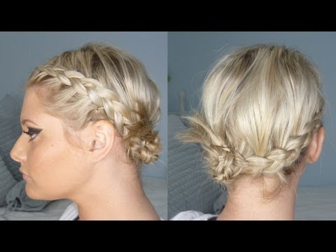 Summer Side Bun Braids Short Or Long Youtube