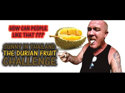 THE UGLY DURIAN FRUIT CHALLENGE - Sunny's Thailand Vlog # 106