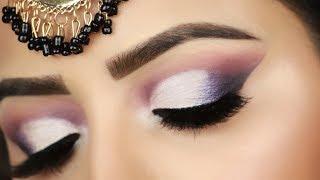 Step by Step Purple Silver Cut Crease Makeup Tutorial (HINDI)| Deepti Ghai Sharma