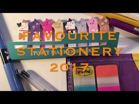 Favourite Stationery 2017-Daiso,MUJI,Pilot G TEC, Post-it, Ticonderoga